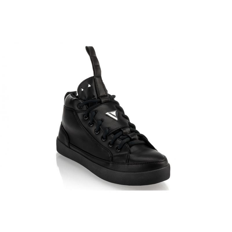 7b40f4a4225f Pánske moderné kožené topánky (tenisky) GOV DENIM 008-11BK čierne ...