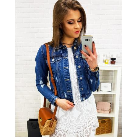 Dámska džínsová bunda GLAM modrá