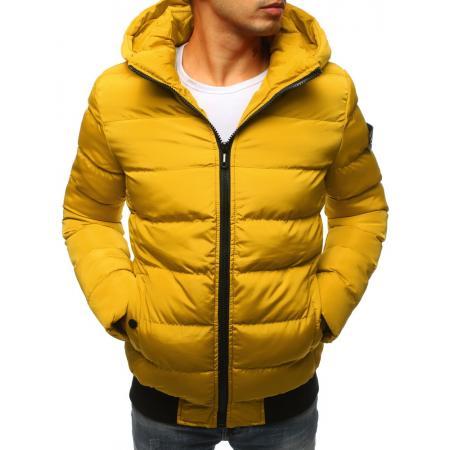 Pánska zimná bunda prešívaná žltá
