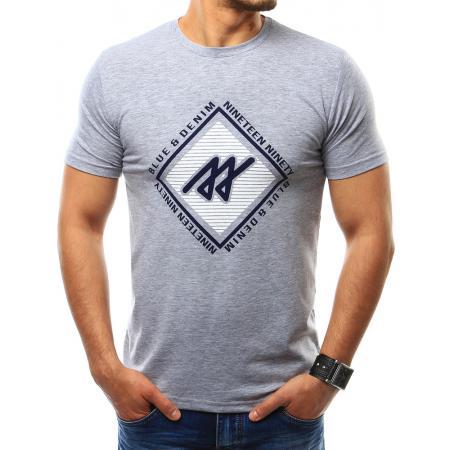 Pánská tričko s potlačou šedé