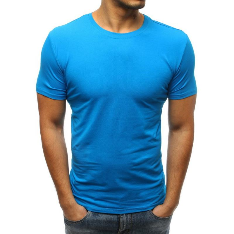 3cc3c8d3a Pánske jednofarebné tričko STYLE modrej | manSTYLE.sk