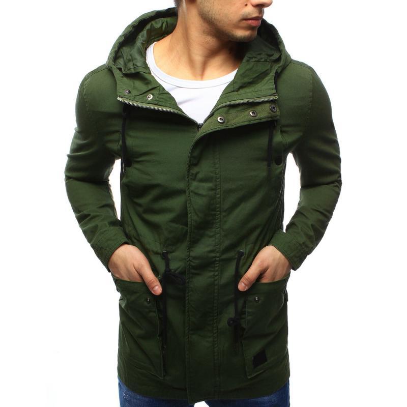 Pánska zelená parka - jarná bunda  2d09a45a5aa