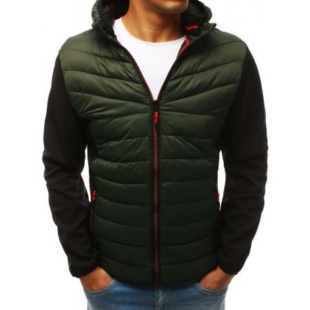 Pánska bunda prechodová jesenná / jarná prešívaná zelená