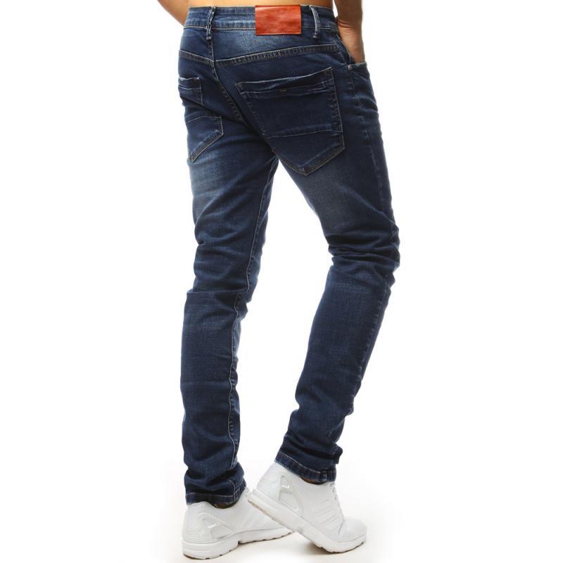 Pánske jeans nohavice STYLE modré  adb3f0911d