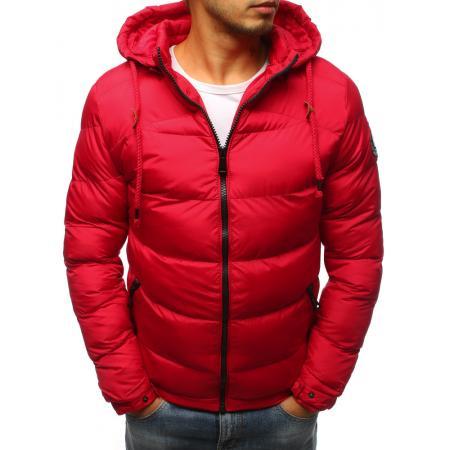 Pánska prešívaná zimná červená bunda