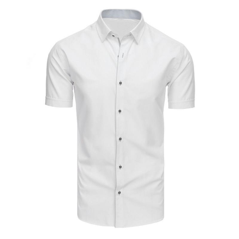 f23990fe9166 Elegantná pánska košeľa s krátkym rukávom biela