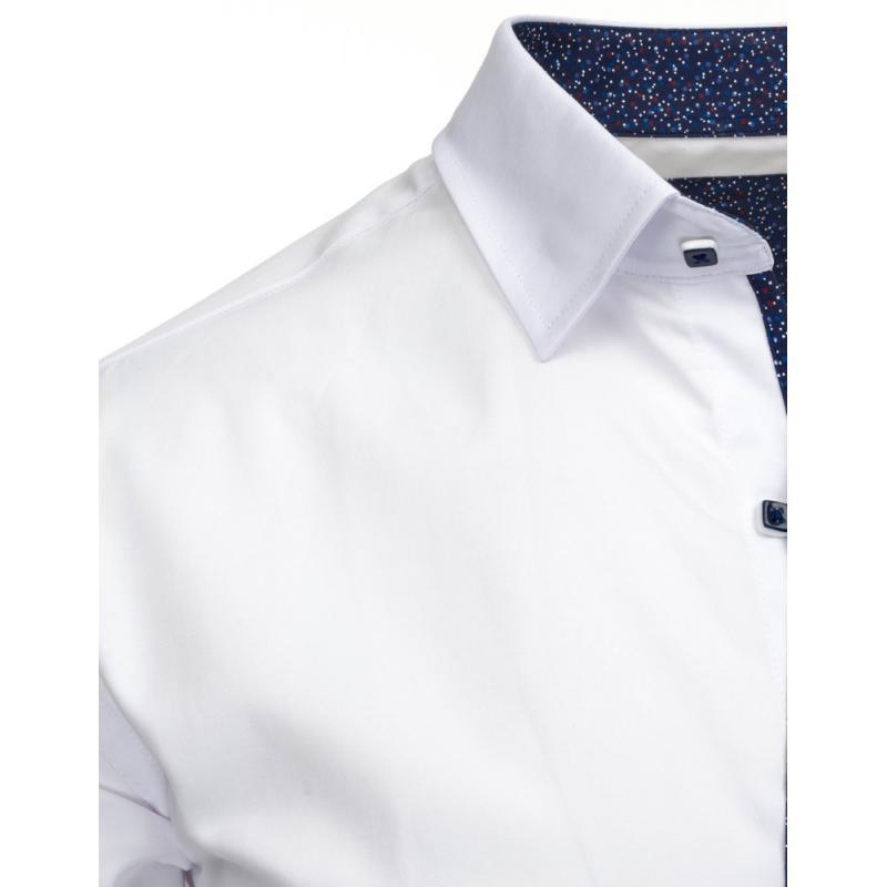 e208a0f10c41 Elegantná pánska košeľa v bielej farbe