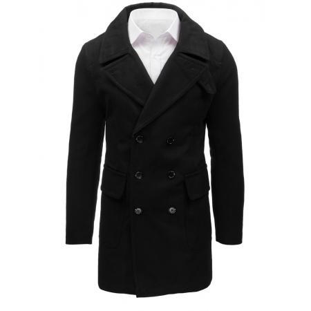 Čierny pánsky zimný kabát