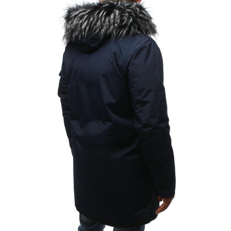 Pánska zimná parka bunda modrá  f13e4b66b6f