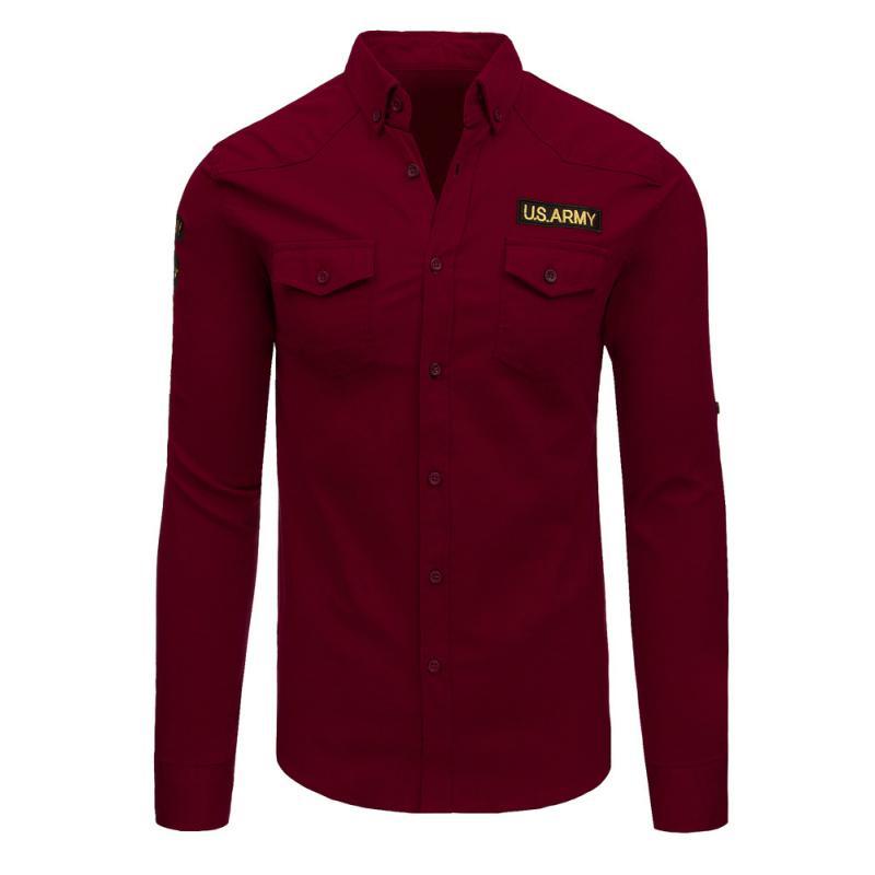 Pánska košeľa červená  9120483e4d5