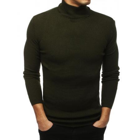 Pánsky MODERN sveter rolák khaki