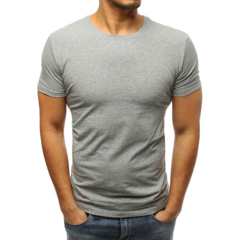 436439a93 Pánske jednofarebné tričko STYLE sivé | manSTYLE.sk