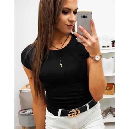 Dámske tričko jednofarebné čierne