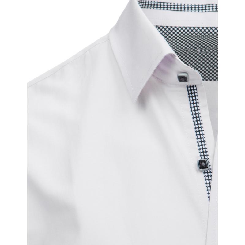 3fe47b52c321 Pánska STYLE košeľa elegantná biela