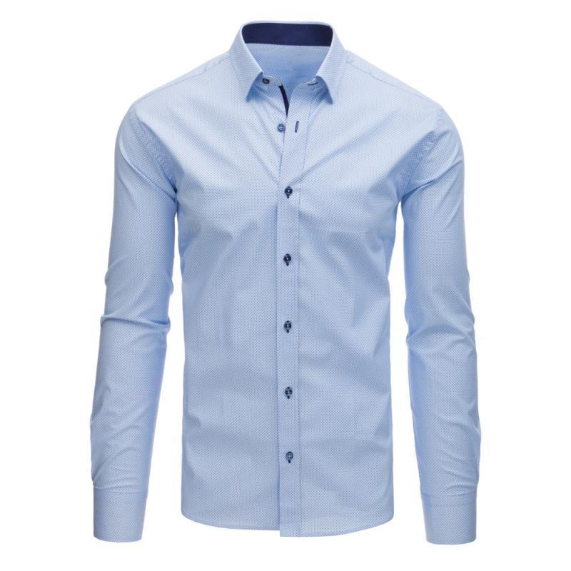 99cc9d98d0e8 Pánska STYLE košeľa elegantná sa vzormi modrá