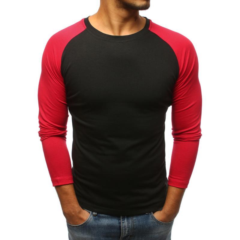 028915815 Pánske čierne tričko s dlhým rukávom | manSTYLE.sk