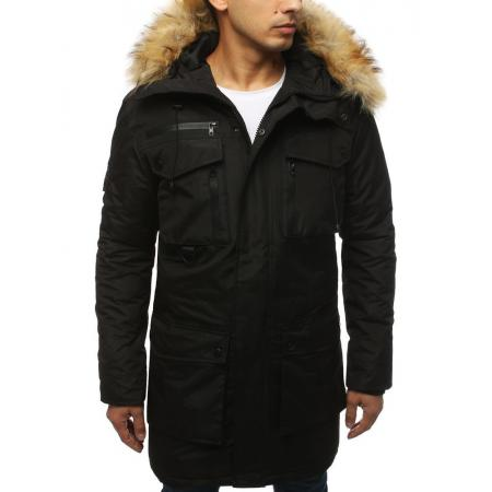 Pánska bunda zimná čierna