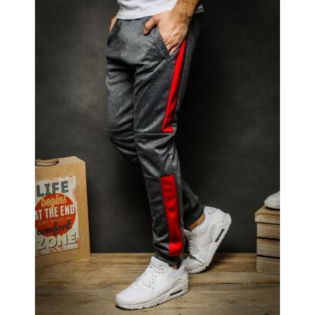 Pánske nohavice tepláky tmavo šedé UX2266