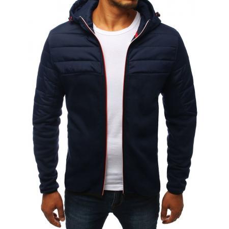 Pánska bunda prechodová jesenná / jarná športové tmavo modrá