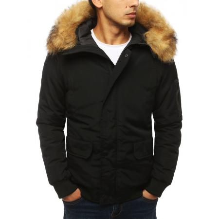 Pánska STYLE bunda zimná - zateplená čierna