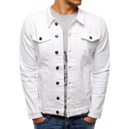 Pánska bunda džínsová biela