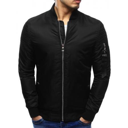 Pánska štýlová bunda bomber jacket čierna