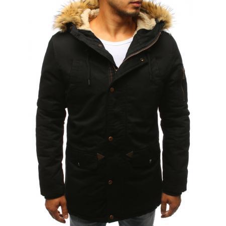 Pánska zimná parná bunda čierna