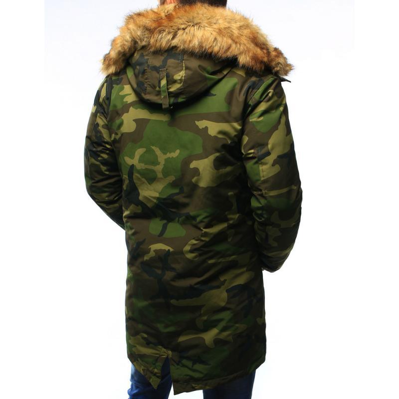 Maskáčová bunda parka pánska zimné camo  da5fdf5d4d8