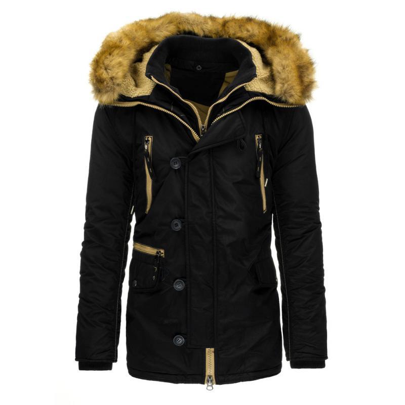 740b367063d0 Pánska stylová zimné bunda čierna