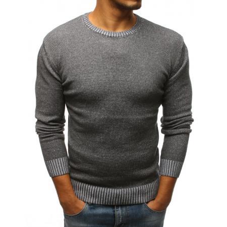 b90fec387e79 Pánsky antracitový sveter