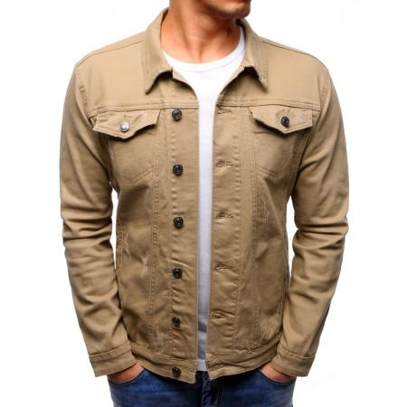 Pánska bunda džínsová béžová