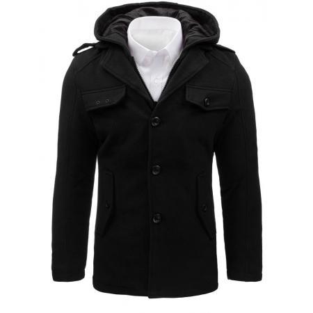Pánsky kabát štýlový čierny