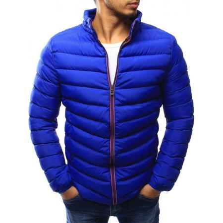 Pánska bunda prešívaná svetle modrá