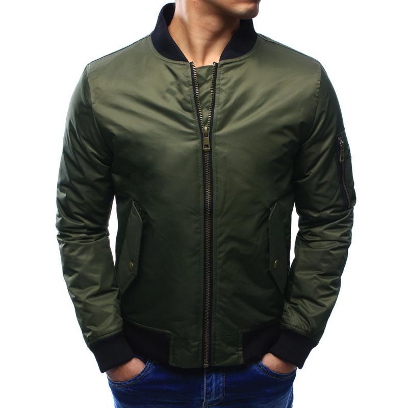 Pánska bunda bomber jacket khaki  901cff4a804