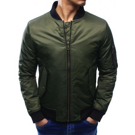 Pánska bunda bomber jacket khaki