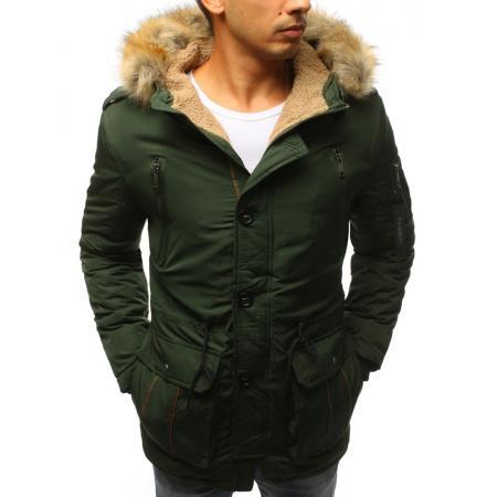 Pánska zimná bunda zelená