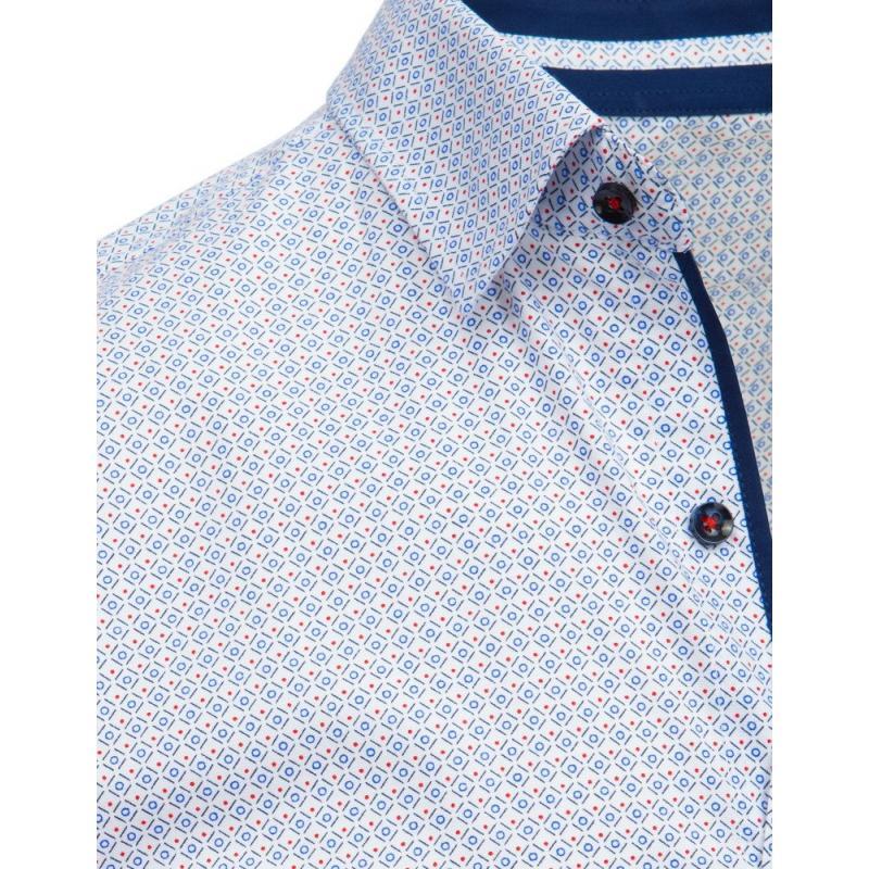 63ee3c957c4e Pánska elegantná košeľa so vzorom biela