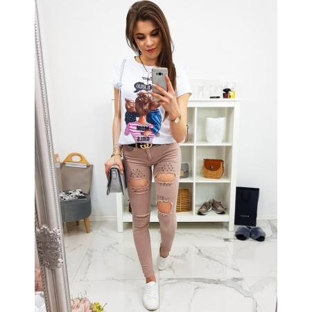 Nohavice dámske Yetti jeansové ružové