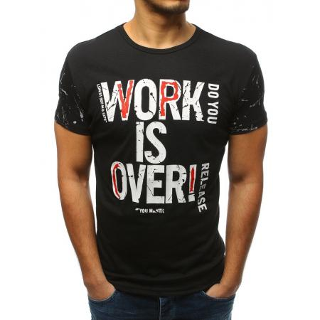Pánske tričko s potlačou čiernej