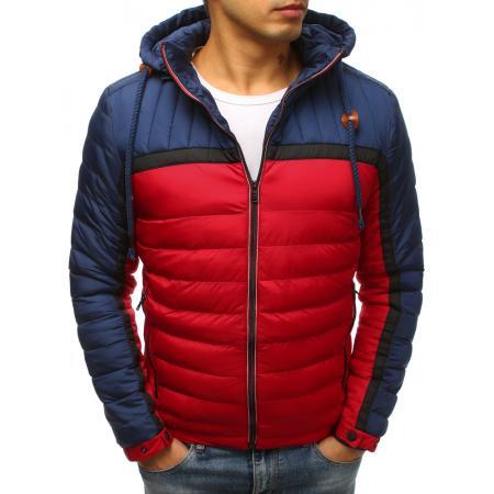 Pánska zimná bunda prešívaná červená