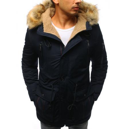 Pánska zimná modrá bunda