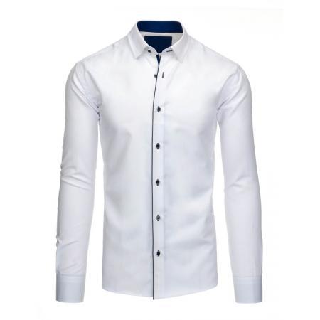 e1219b7bef25 Pánska štýlová košeľa biela s ľahko vyštíhleným strihom