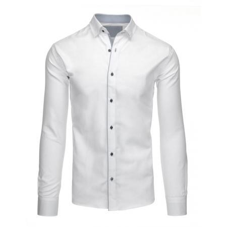 Pánska štýlová košeľa biela do obleku aj saká