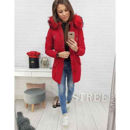 Bunda parka STONE RED dámska zimná červená