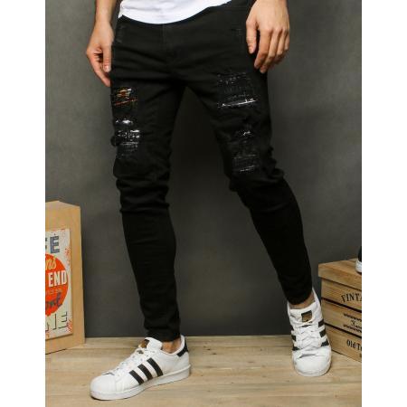 Pánske jeansy čierne UX2515
