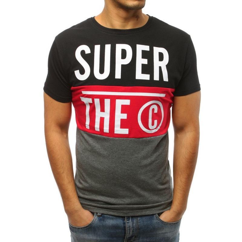 4a5389b44f19 Pánske tričko STYLE s potlačou čiernej