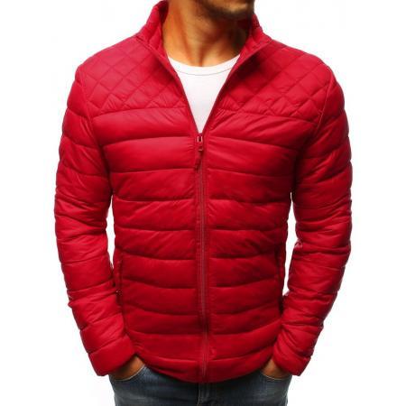 Červená prešívaná bunda pre mužov