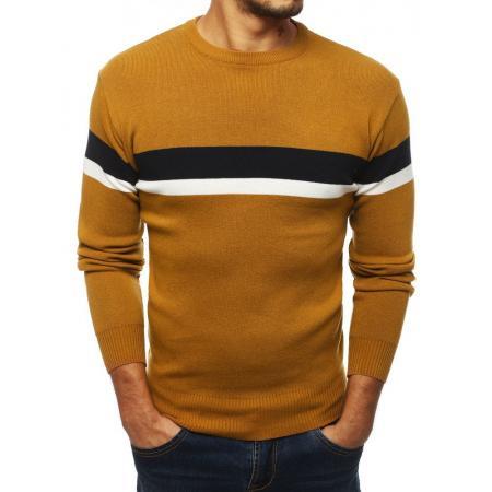 Pánsky štýlový sveter hnedý