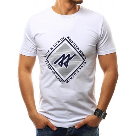 Pánská tričko s potlačou bílé