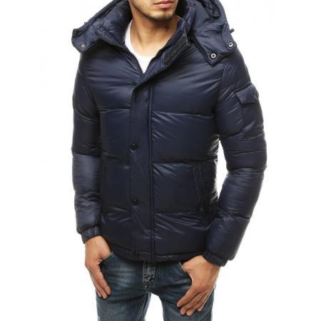 Pánska bunda zimná prešívaná modrá tx3492